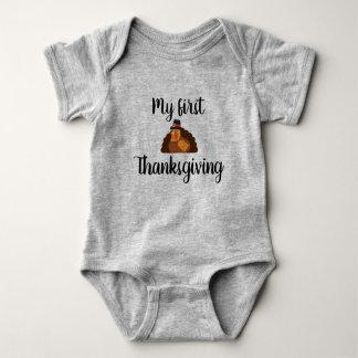 Body Para Bebê Meu primeiro Bodysuit da acção de graças