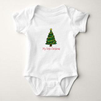 Body Para Bebê meu primeiro Natal