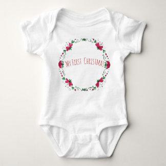 """Body Para Bebê """"Meu primeiro Natal"""" uma parte para o bebê"""