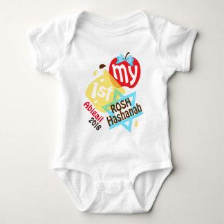 Body Para Bebê Meu primeiro Rosh Hashanah Apple e Creeper do mel