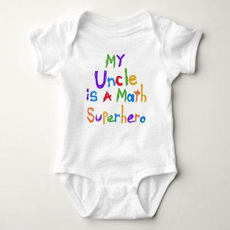 Body Para Bebê Meu tio Matemática Super-herói T-shirt e presentes