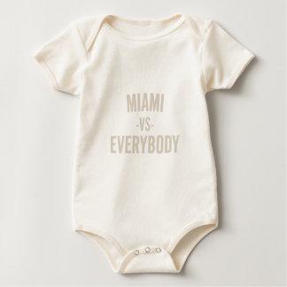 Body Para Bebê Miami contra todos