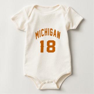 Body Para Bebê Michigan 18 designs do aniversário