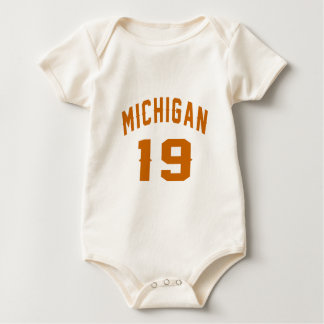 Body Para Bebê Michigan 19 designs do aniversário