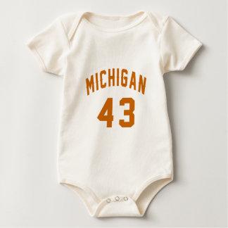 Body Para Bebê Michigan 43 designs do aniversário