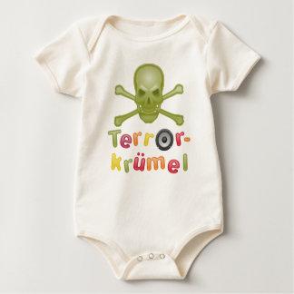 Body Para Bebê Migalha de terror
