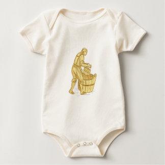 Body Para Bebê Miller medieval com desenho do balde