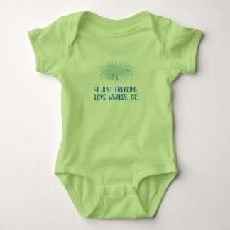 Body Para Bebê Mim apenas baleias Freaking do amor, APROVAÇÃO!