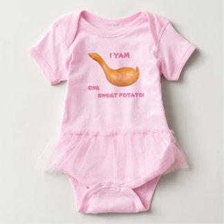 Body Para Bebê Mim batata doce do Yam um