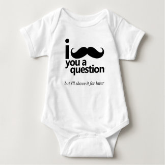 Body Para Bebê Mim bigode você uma pergunta