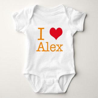Body Para Bebê Mim coração Alex