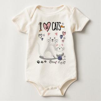 Body Para Bebê Mim coração, gatos do amor