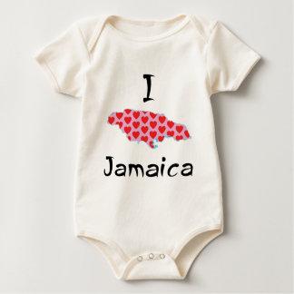 Body Para Bebê Mim coração Jamaica
