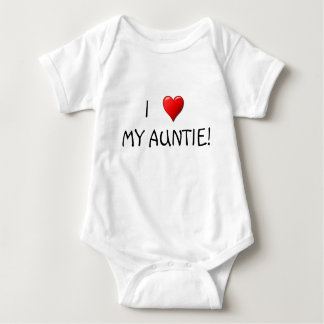 Body Para Bebê Mim coração meu Auntie!