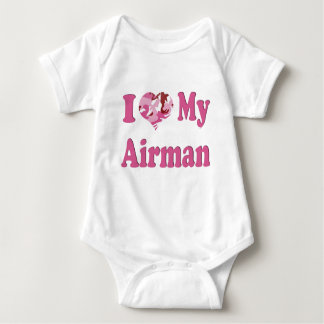 Body Para Bebê Mim coração meu aviador
