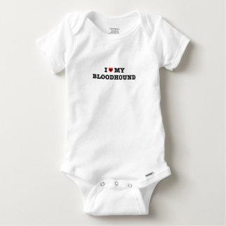 Body Para Bebê Mim coração meu Bodysuit do bebê do Bloodhound