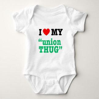 """Body Para Bebê Mim coração meu da """"vândalo união """""""