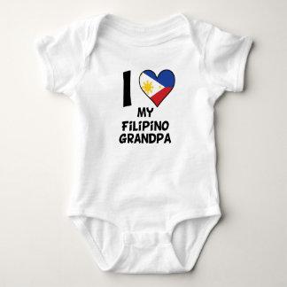 Body Para Bebê Mim coração meu vovô filipino