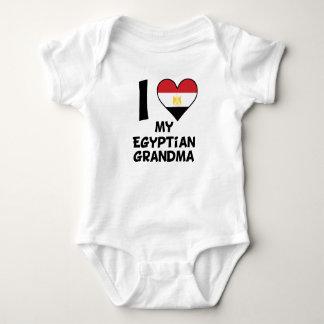 Body Para Bebê Mim coração minha avó egípcia