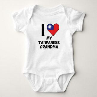 Body Para Bebê Mim coração minha avó taiwanesa