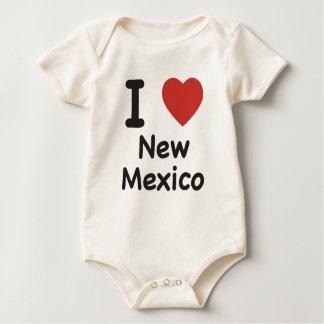 Body Para Bebê Mim coração New mexico - t-shirt do bebê