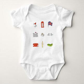 Body Para Bebê Mim coração Reino Unido, amor britânico, marcos