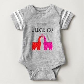 Body Para Bebê Mim Llove você casal do lama