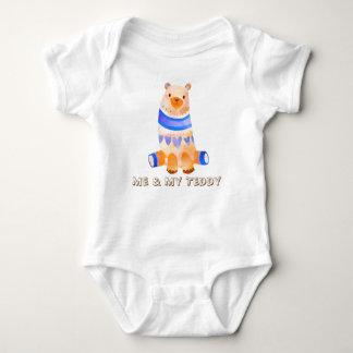 Body Para Bebê Mim & meu ursinho