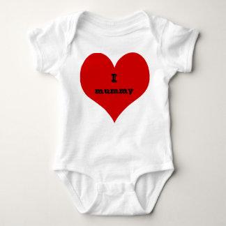 Body Para Bebê mim roupa do terno do bebê da mamã do coração