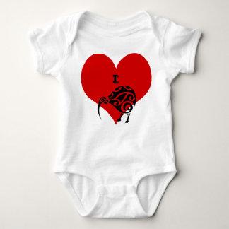 Body Para Bebê mim roupa do terno do bebê do quivi do coração