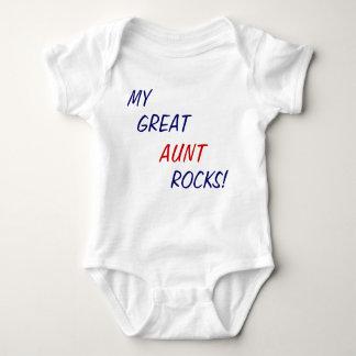 Body Para Bebê Minha grande tia Rocha! Bebê uma parte