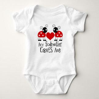 Body Para Bebê Minha madrinha ama-me t-shirt das meninas do