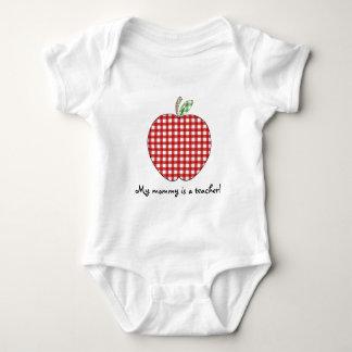 Body Para Bebê Minha mamãe é um guingão vermelho Apple do