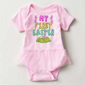 Body Para Bebê Minha menina bonito da primeira páscoa