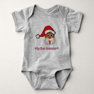 Body Para Bebê Minha primeira morsa do bebê do Natal
