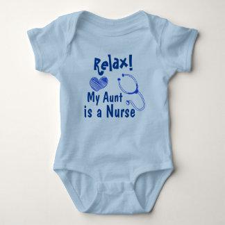 Body Para Bebê Minha tia é Bodysuit do bebê da enfermeira