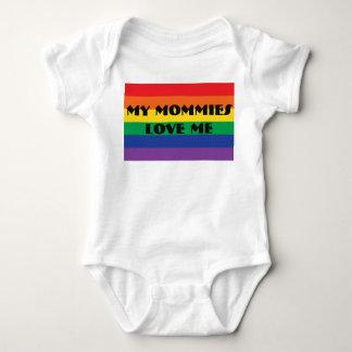 Body Para Bebê Minhas mamãs amam-me