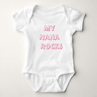 Body Para Bebê Minhas rochas de Nana