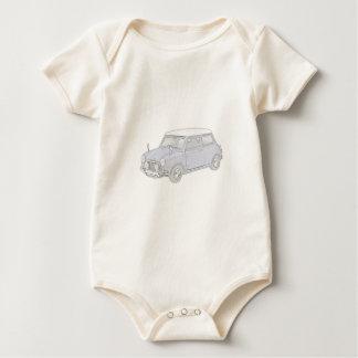 Body Para Bebê Mini Cooper Vintage-coloriu