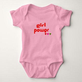 Body Para Bebê Mini mim poder retro da menina