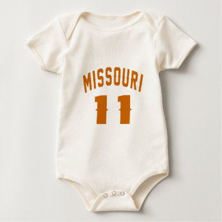 Body Para Bebê Missouri 11 designs do aniversário