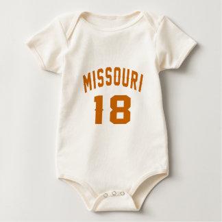 Body Para Bebê Missouri 18 designs do aniversário