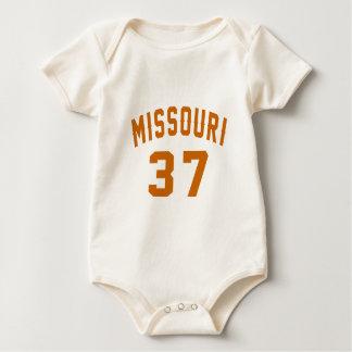Body Para Bebê Missouri 37 designs do aniversário