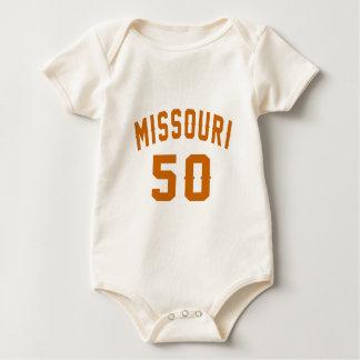 Body Para Bebê Missouri 50 designs do aniversário
