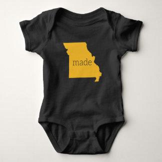 Body Para Bebê Missouri fez o Bodysuit do bebê {preto e o ouro}