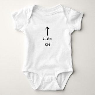 Body Para Bebê Miúdo bonito acima da seta para o bebê