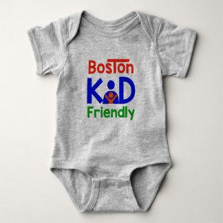 Body Para Bebê Miúdo de Boston amigável