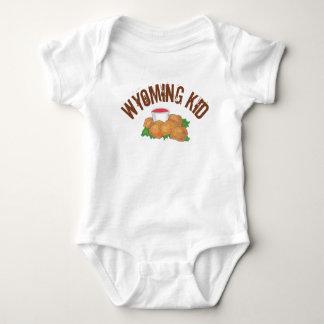 Body Para Bebê Miúdo fritado de Wyoming das ostras da pradaria da