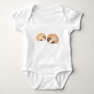 Body Para Bebê Modelo dos cérebros humanos isolado no fundo