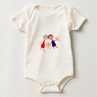 Body Para Bebê Modelo gráfico de Charaters - personalize o texto